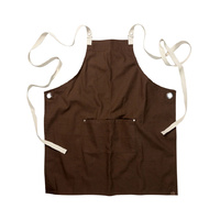 Byron Canvas Cross Over Back Brown Bib Apron