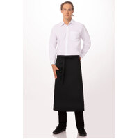 3/4 Bistro Waist Apron Black With Pocket - 81 x 70 cm - F24-BLK Chef Works