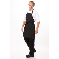 Apron Bib No Pocket Black - APKBL Chef Works