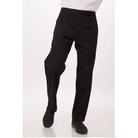 Chef Pants Slim Fit, Black, lightweight, Large, Chef Works