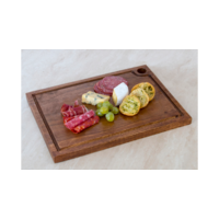 355 x 255 x 15mm Rectangle Wooden Serving Board with groove- Acacia