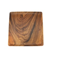 250mm Square Plate - Acacia Wood